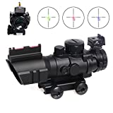Goetland 4x32 Rifle Scope Tactical Prismatic Glass Crosshair Reticle with Fiber Optic Sight