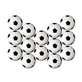 TOYMYTOY 14 Stück Tischfußball Kickerbälle Schwarz Weiß