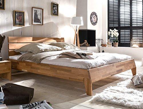 Massivholzbett Divico 160x200 Wildeiche geölt Doppelbett Ehebett Schlafzimmer Holzbett Bett