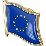 Zonster 1pc Bandiera 'Unione Europea Pin Badge di Metallo Spilla Spilla 'Unione Europea di Flag Badges novità Accessori