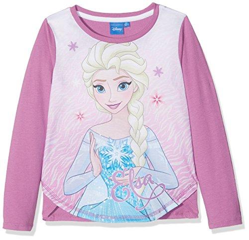 Disney 160677, t-shirt bambina, rose (white/mulberry 17-3014tcx), 3 anni