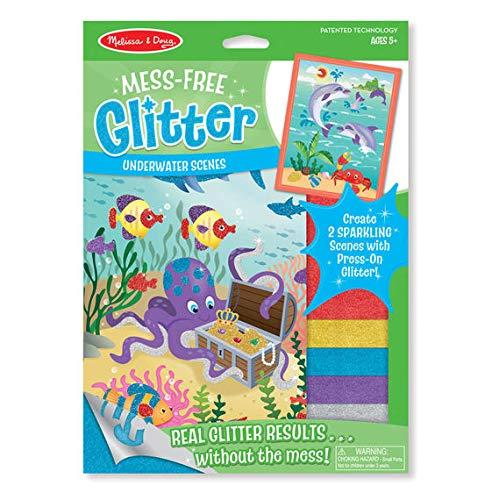 Woodega - Kinder Glitter Under Water Scenes Zum Selbermachen, Glitzer Unterwasser Ozean Octopus Delfine, Grün (Ozean-szenen Wandtattoos)