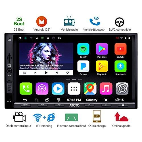 ATOTO [NEU] A6 2×DIN Android Auto Navigation Stereo mit 2×Bluetooth & 2A Aufladen -Premiun A6Y2721PB 2G+32G Auto Entertainment GPS Autoradio,Internet über WiFi/BT teilen,für 256GB SD/mehr