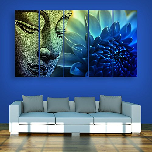 Inephos Multiple Frames Buddha Beautiful Wall Painting (150cm X 76cm)