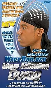WAVE BUILDER Wave Activating Du-Rag BLACK (Model: 992)