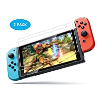Nintendo Switch Screen Protector Glass,Leeron 9H Hardness Tempered Glass Screen Protector for for Nintendo Switch 2017 (2-Pack)