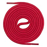 Mount Swiss Lacets ronds, qualité premium 100% coton, indéchirables,rouge 50 cm