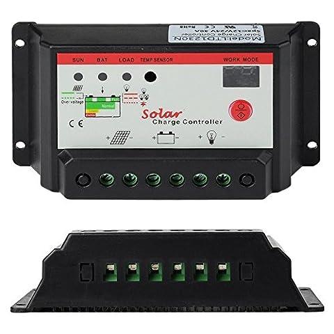 MASUNN Intelligent 12V 24V Pwm Régulateur De Charge De Panneau Solaire Régulateur De Batterie Automatique 10A 20A Pour Optionnel -20A