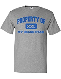 ShirtScope Property of My Orang-utan T shirt Funny Tee