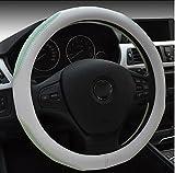 Auto Lenkradhülle 38,1cm kein Geruch Komfort Haltbarkeit Sicherheit absorbieren Schweiß Dewet Farbe Spleißen, grün und weiß