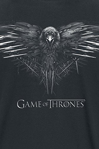 Game Of Thrones 3 Eyed Crow T-Shirt charcoal Charcoal