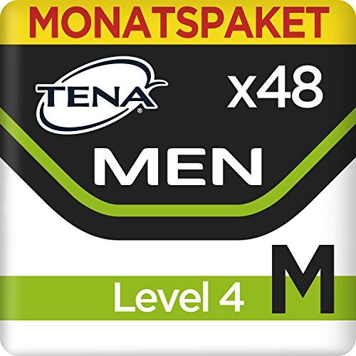 Tena Men Level 4 Medium, Monats-Paket mit 52 Einlagen (4 Packungen je 12 Stück)