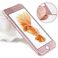 PHONILLICO Verre Trempe iPhone 6 Plus / 6S Plus - Film Rose 100% Intégral 3D Protection Ecran Verre Trempe Ultra Resistant Vitre Ecran Protecteur Anti Rayure sans Bulle d'Air Dureté 9H Ultra Mince