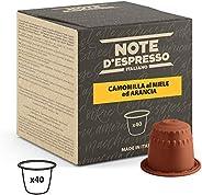 Note D'Espresso - Capsule - Compatibili con Sistema Nespresso* - Camomilla al Miele ed Arancia - 40