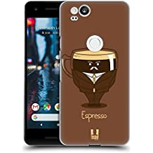 Head Case Designs Espresso Personalità Del Caffè Cover Retro Rigida per Google Pixel 2