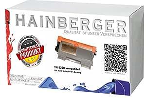 Hainberger Toner XXL pour imprimante Brother HL 2240, équivalent des modèles TN-2220 TN-2210 Noir 5200 pages Compatible avec les imprimantes Brother HL 2240 Brother HL 2240 D Brother HL 2250 Brother HL 2250 DN Brother HL 250 N Brother HL 2270 DW