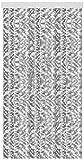 Arsvita Flausch-Vorhang (56x180 cm) in der Farbe: Hellgrau-Weiß, Viele Weitere Größen erhältlich