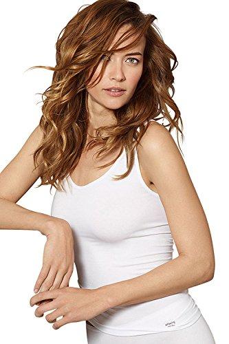 SPEIDEL Damen Unterhemd 3er Pack - SOFTFEELING 9606 Baumwolle+Modal+Elasthan, Farbe Weiss/Schwarz/Skin, Gr. 38-48, Gr. 38, Schwarz (Soft Damen-hemd)
