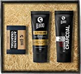 Beardo Activated Charcoal Soap, Face Wash & Ultraglow Face Lotion (Set of 3)