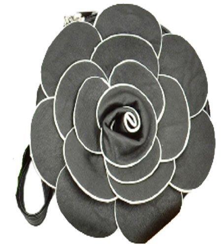 EyeCatch - Pochette fleur longue lanière - Femme