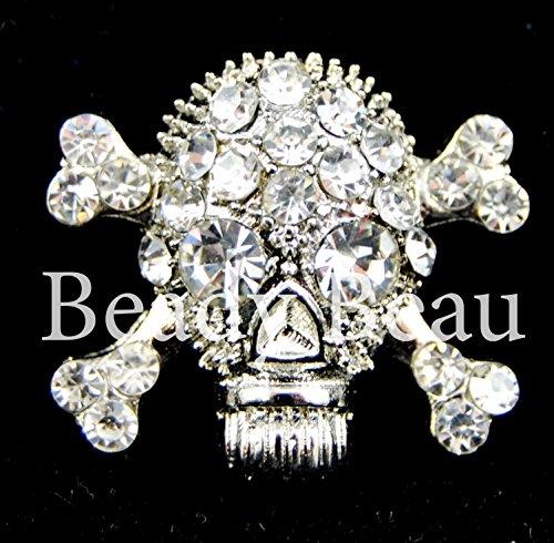 2 unidades diamantes de imitación en relieve de calavera y...