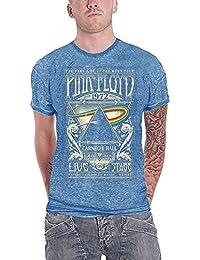 Pink Floyd Shirt Carnegie Hall Poster Logo Official Mens Blue Burnout
