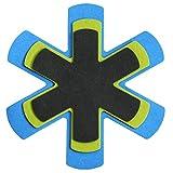 MACOSA HOME 3er Set Pfannen-Schutz Filz und Kunststoff verschiedene Größen / Schwarz/Grau/Grün/ WASCHBAR/ LEBENSMITTELECHT! Universal-Größe.Zuschneidbar.Extra weich, Pfannenschoner, Stapelhilfe