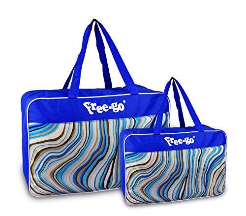 Media wave store doppia borsa termica free-go 375815 modello summer wave doppio manico (blu)