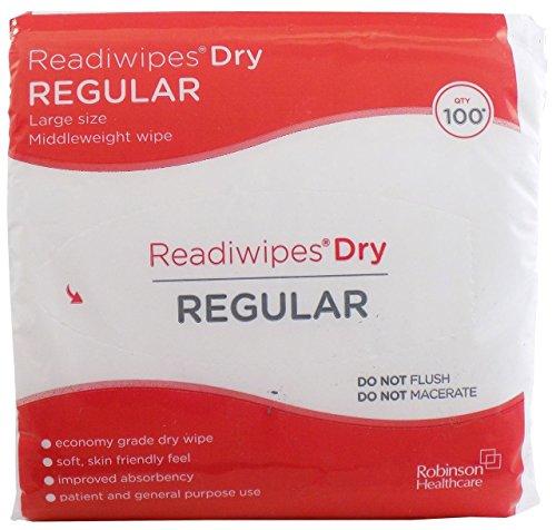 Readiwipes sec–Regular, grande taille, nettoyage du poids moyens (4paquets de 100) Readiwipes®