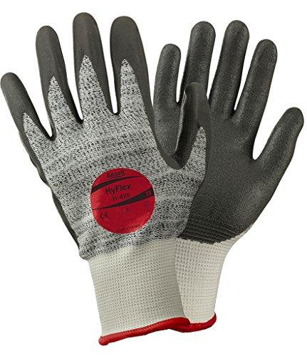 Ansell HyFlex 11-425 Schnittschutz-Handschuhe, Mechanikschutz, Grau, Größe 9 (12 Paar pro Beutel)