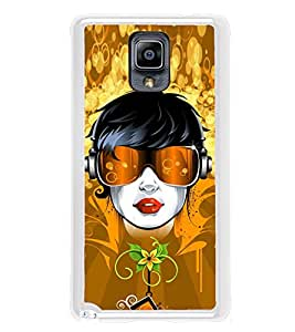 Girl with Head Phones 2D Hard Polycarbonate Designer Back Case Cover for Samsung Galaxy Note 3 :: Samsung Galaxy Note III :: Samsung Galaxy Note 3 N9002 :: Samsung Galaxy Note N9000 N9005
