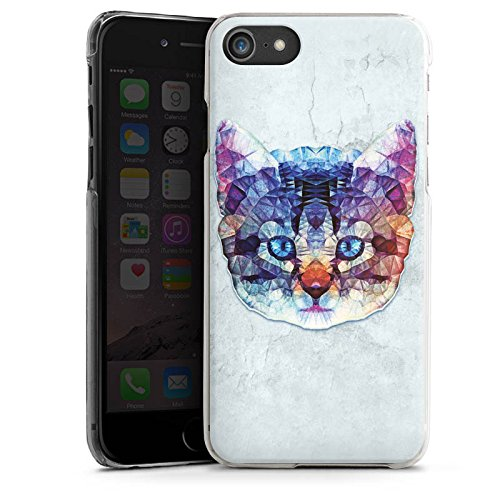 Apple iPhone X Silikon Hülle Case Schutzhülle Rainbow Cat Katze Kitten Hard Case transparent