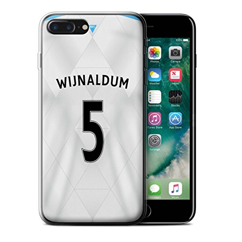 Officiel Newcastle United FC Coque / Etui Gel TPU pour Apple iPhone 7 Plus / Pack 29pcs Design / NUFC Maillot Extérieur 15/16 Collection Wijnaldum