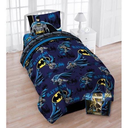 Batman DC Comics Twin Bettwäsche-Set, wendbar, Tröster, Bettlaken und Wendekissenbezug -