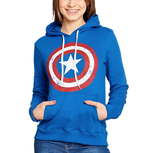 Captain america Shield Logo Girl-Kapuzenpulli blau ()