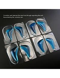 PIXNOR Corrección de plantillas pie almohadillas Almohadillas arcos para pie plano tamaño L - 4 pares