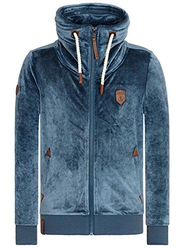 Naketano Male Zipped Jacket Ivic Mack III Steel