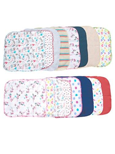 Mee Mee Mini Baby Napkins (Set of 16), Multi Color