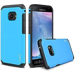 Galaxy Xcover 4 Funda, J&D [Armadura Delgada] [Doble Capa] [Protección Pesada] Híbrida Resistente Funda Protectora y Robusta para Samsung Galaxy Xcover 4 - Azul