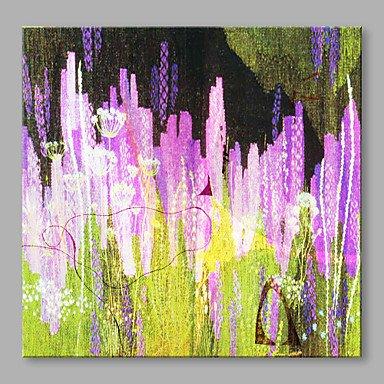 24 Zeitgenössische Leinwand (CHSUKHO Handgemalte Blumenmuster/Botanisch Zeitgenössisch Künstlerisch Blume Abstrakt Ein Panel Leinwand Druck For Haus Dekoration , 24