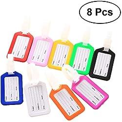 TOYANDONA Huit étiquettes de Bagage Valise boîte à Main Couleur Flexible renseignements nom et prénom Carte d 'étiquette de Voyage étiquette PVC