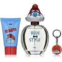 First American Brands Bluestyle Papa 3D - Los Pitufos Papá Pitufo ml Eau de Toilette 75 ml de regalos llavero 100 gel de ducha para los niños, 1er Pack (1 x 100 ml)