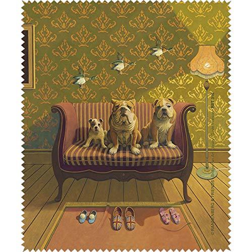 Bridgeman Art Library Microfasertuch/Brillenputztuch Doggs - Bunte Hunde - Creature Comforts RBT316