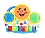 #10: Flipzon Drum Keyboard Musical Toys with Flashing Lights - Animal Sounds and Songs, Multi Color