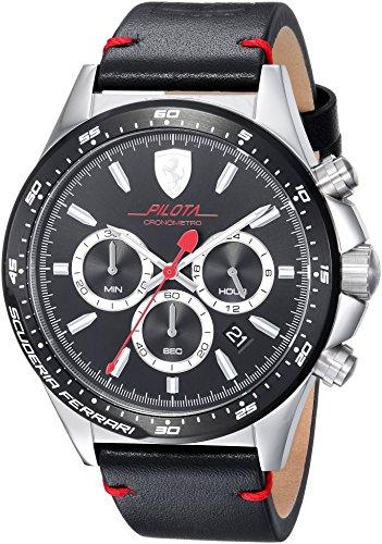 Ferrari De los hombres Ferrari Pilota Chronometro Reloj 0830389