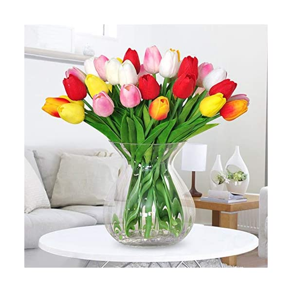 Capítulo siete – 10 tulipanes artificiales de flores artificiales de Holanda Mini tulipanes para fiestas, hogar, hotel…