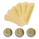 3 PaarSelbstklebend Schuhe Fersenpolster Fersenschutz Pads Ferse Schuheinlagen die Stärke schwankt von 2mm bis 6mm, 4D Fersen-Griff-Pads anhob Silikon-selbstklebende Einfügungs-Aufkleber für lose Schuhe(Beige)