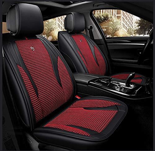 YE Universal-Autositzbezug - 5 Sitze, komplettes Set, Sitzbezug aus EIS-Silk & Leder-Autositz für den ganzjährigen Einsatz (Color : A)