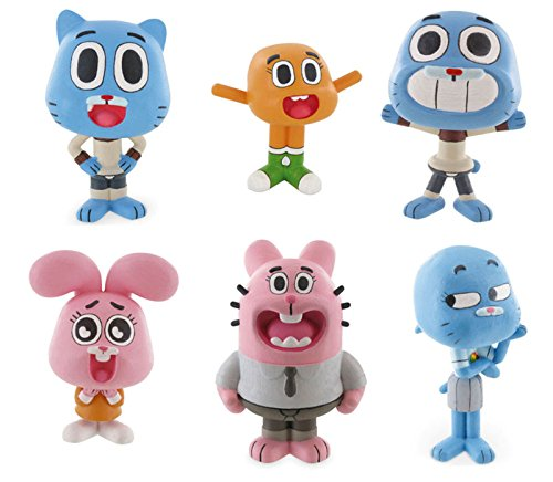 Comansi Amazing World Of Gumball Toy Figures Cake Toppers - All 6 Figures