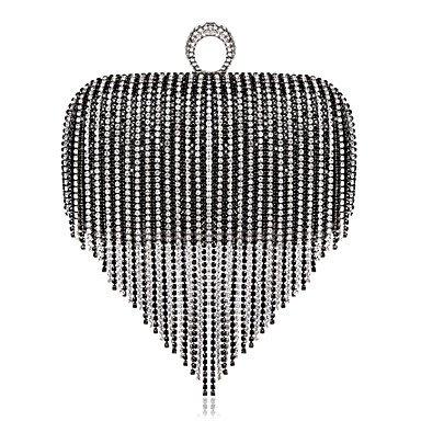 pwne L. In West Woman Fashion Luxus Hochwertige Diamanten Quaste Abend Tasche Black-white
